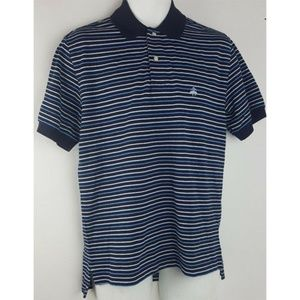 Brooks Brothers Blue Performance Polo Striped Sz S